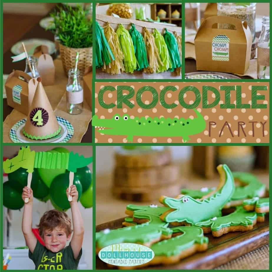 Crocodile Party: Tick Tock it's a party fit for a Croc!