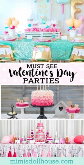 Valentine's Day Party: 10 Must See Valentine's Day Parties.  Are you looking for some Valentine's Day Party inspiration?  Or maybe you just want to ooh and awe over some gorgeous Valentine's Day party ideas. #valentines #valentinesday #holiday #parties #partyideas #partytreats