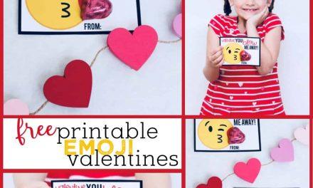 Emoji Valentines + Free Printable Valentine's Day Cards