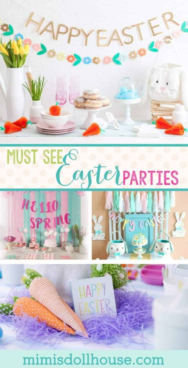 Easter themed party ideas: 10 must see Easter Parties for Spring. It's almost Easter time. Spring is one of my favorite seasons for parties and I'm sharing 10 beautiful MUST SEE Easter parties just in time for Spring.Be sure to check out all ourEaster Party Ideas and Inspiration.  These ideas are also great for an Easter themed birthday party. #party #easter #holiday #parties #partyideas #kidsparty #crafts #diy #baking #decorations
