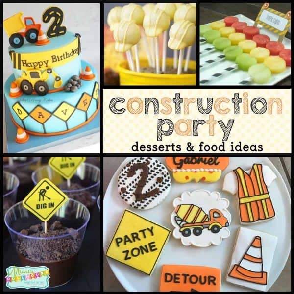Construction Party: Construction Birthday Party Desserts & Food Ideas.  Have a little guy or gal who loves Dirt Movers and Tools?  If you are going to throw a construction birthday party, you need some amazing construction birthday party desserts!  Check out this construction party, this construction birthday party, and all of our construction party ideas.