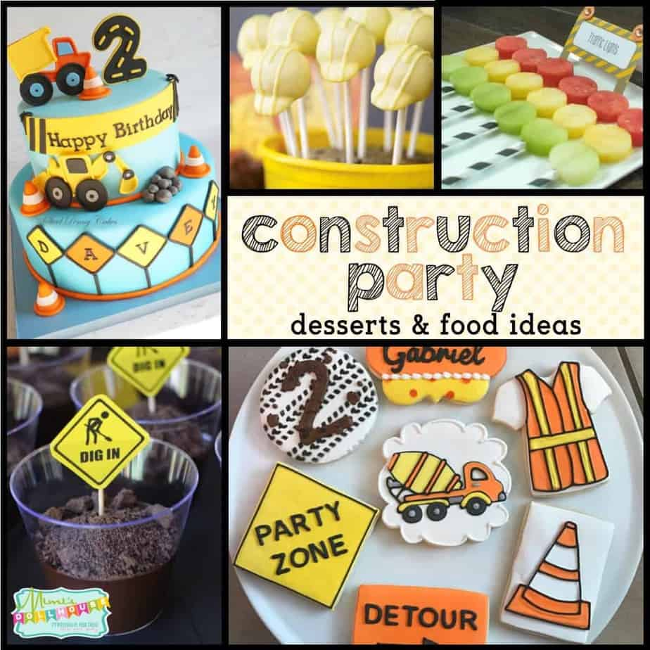Awesome Marvelous Construction Party Food Ideas Mimis Dollhouse Funny Birthday Cards Online Elaedamsfinfo