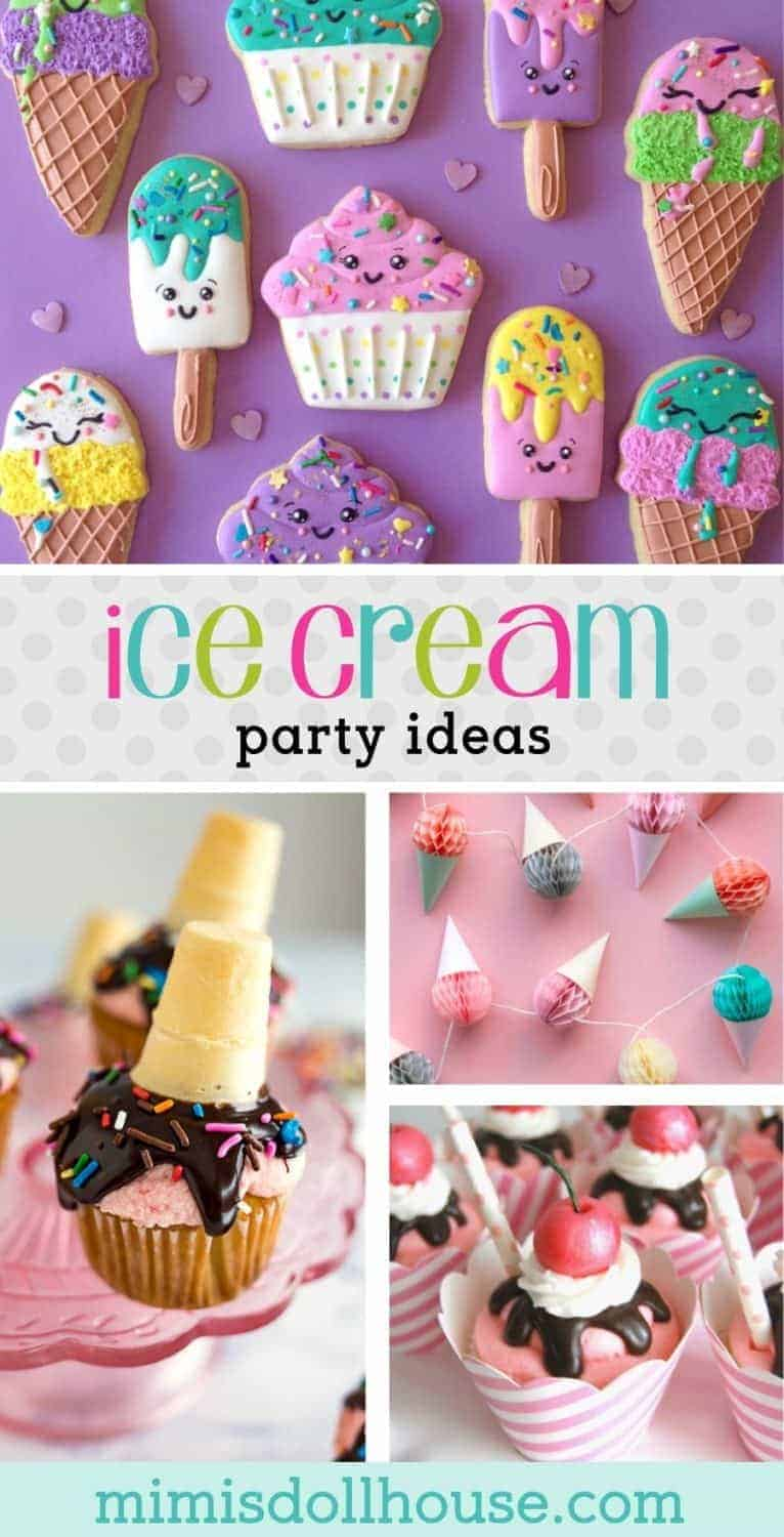 Let's throw an Ice Cream Party!  This post is full of fabulous ice cream party treats, ice cream party decorations, ice cream birthday printables and ice cream birthday ideas!