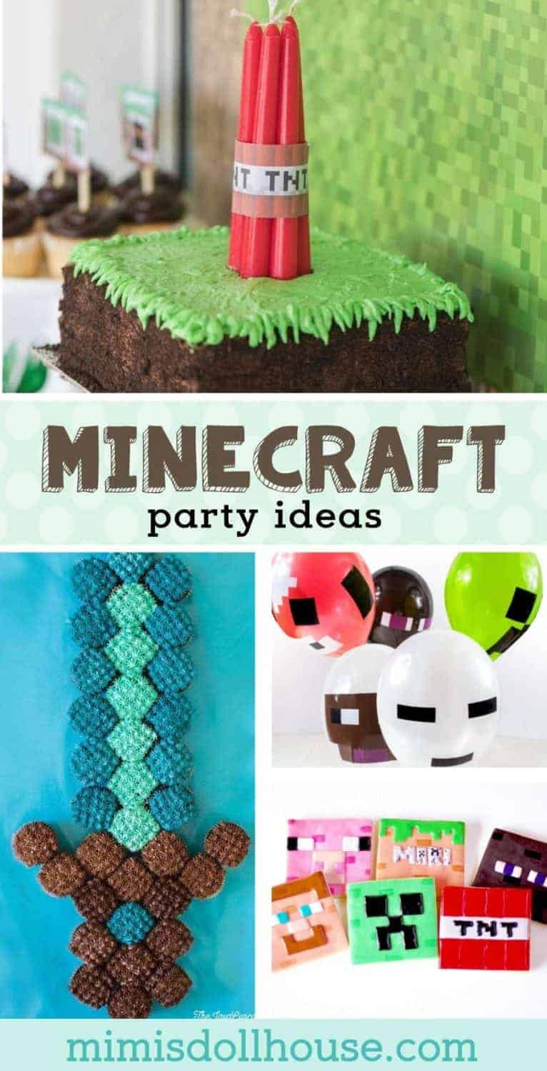 Looking for some awesome Minecraft birthday party ideas? This post is full of Minecraft party foods, Minecraft party decorations and more! #minecraft #partyideas #boyparties #boybirthday