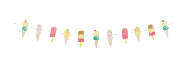 garland for an ice cream party