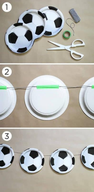 Who Would Have Thought Stringing Soccer Plates Together Could Be So Cute Right This Is A Great Party Decoration Idea And Proof That Good Ideas Do