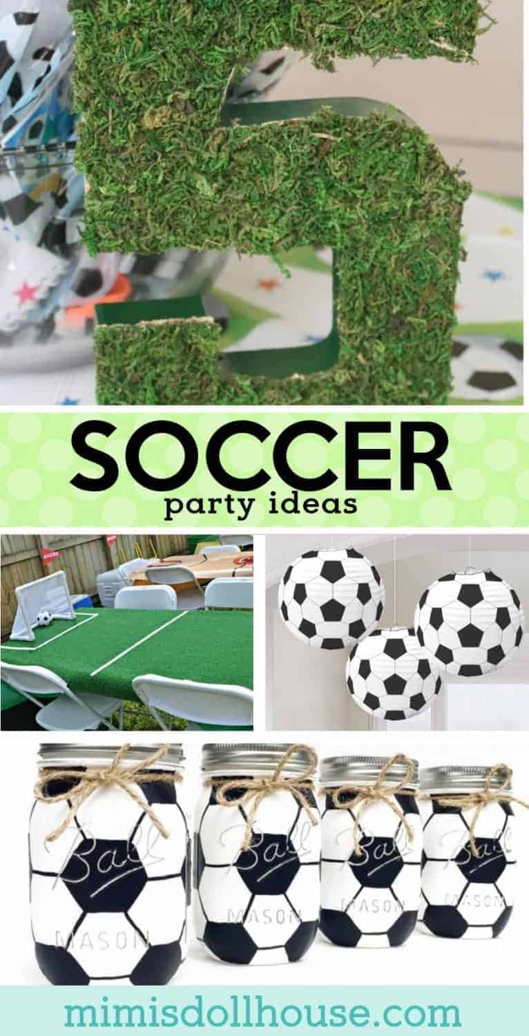 Soccer Birthday Party: Futbol Birthday Party Ideas.  Let's kick this party into gear with some amazing Soccer birthday party ideas.  Today I am sharing some of my favorite soccer party ideas to make a great futbol birthday party! Check out these soccer party decoration ideas and all our soccer party ideas and inspiration.  Also...be sure to take a look at these soccer party dessert ideas!