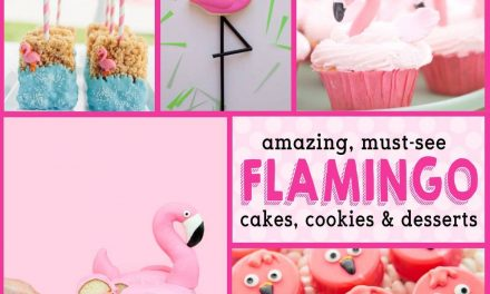 Flamingo Birthday Cakes + Baby Shower Desserts