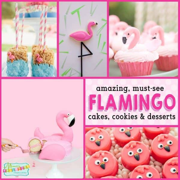 Surprising Flamingo Birthday Cakes Baby Shower Desserts Mimis Dollhouse Personalised Birthday Cards Bromeletsinfo