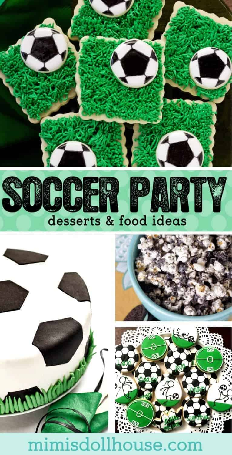 Soccer Party: 10 Game Winning Soccer Desserts. Need some inspiration for your soccer party menu? Create a unique dessert table for your little futbol fans with these soccer desserts and soccer treat ideas. Check out these soccer party decoration ideas and all our soccer party ideas and inspiration.Also...be sure to take a look at these soccer party ideas!