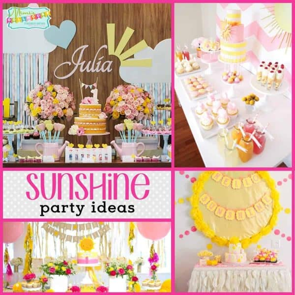 Sunshine And Bright Colors Make For The Perfect Springtime Birthday Party Today Im Sharing Some Simply Adorable Parties