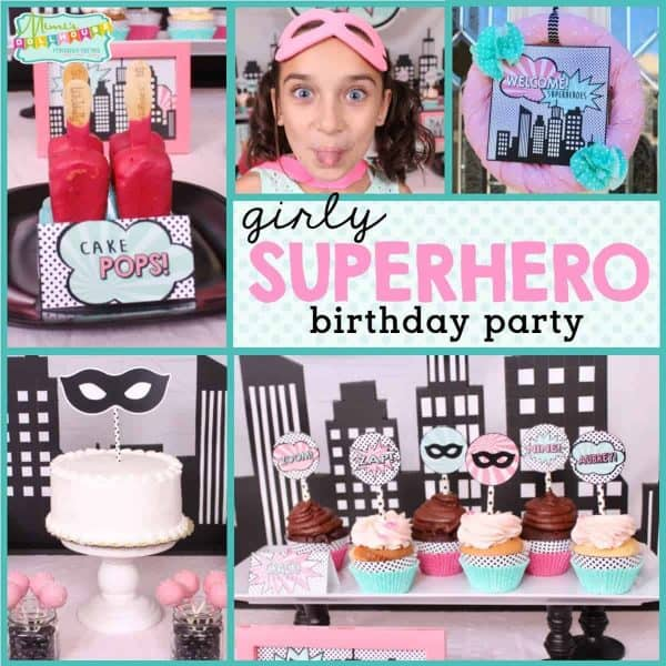 Astonishing How To Throw A Girl Superhero Birthday Party Mimis Dollhouse Funny Birthday Cards Online Aeocydamsfinfo