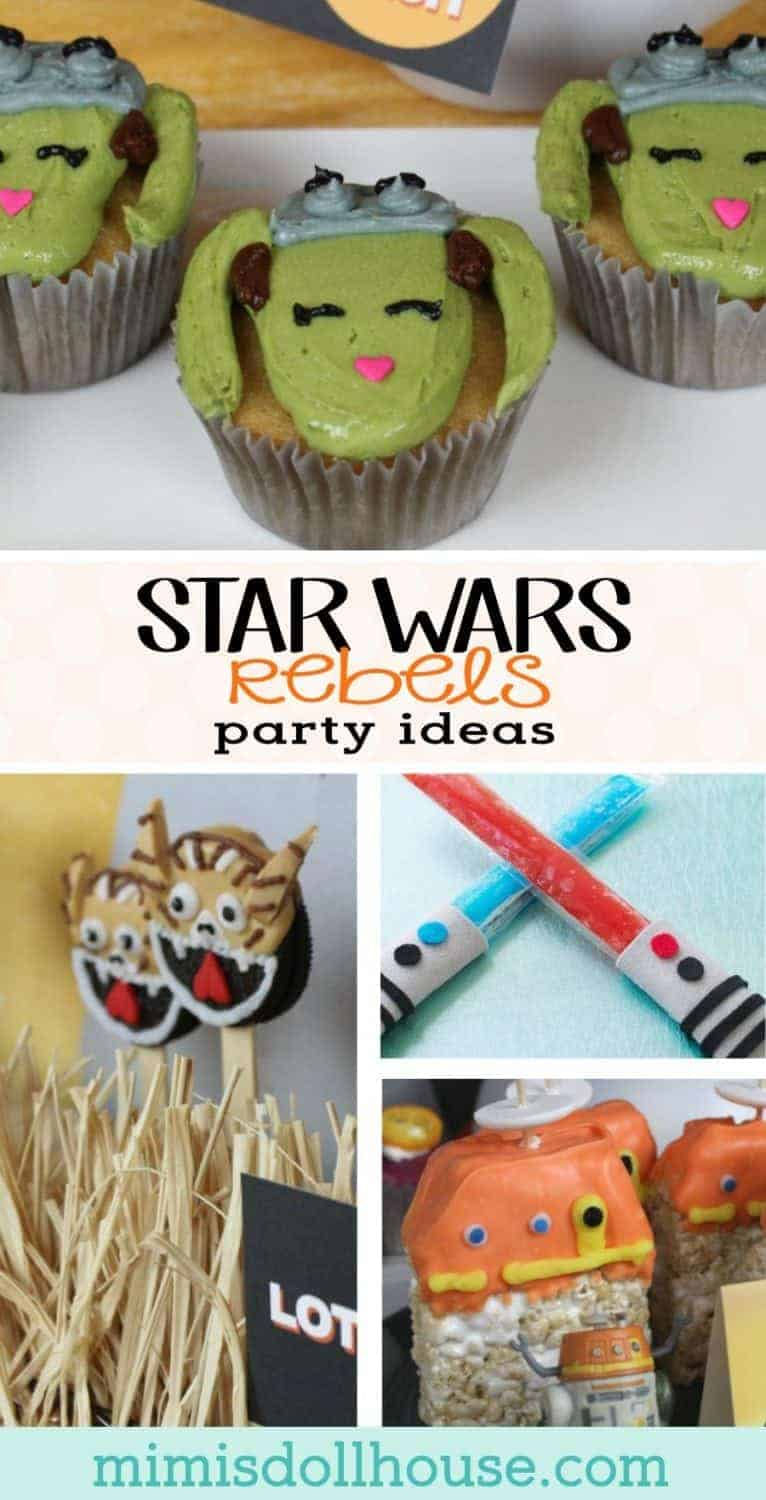 Star Wars Rebels: Ideas for a Star Wars Rebels Viewing Party. Are you planning an awesome Star Wars Rebels party?  We have tons of the cutest Star Wars Rebels party ideas to share today.  Looking for May the 4th party ideas or classic Star Wars Party ideas?  Be sure to check out this awesome jedi training birthday party and this Chewbacca themed party!