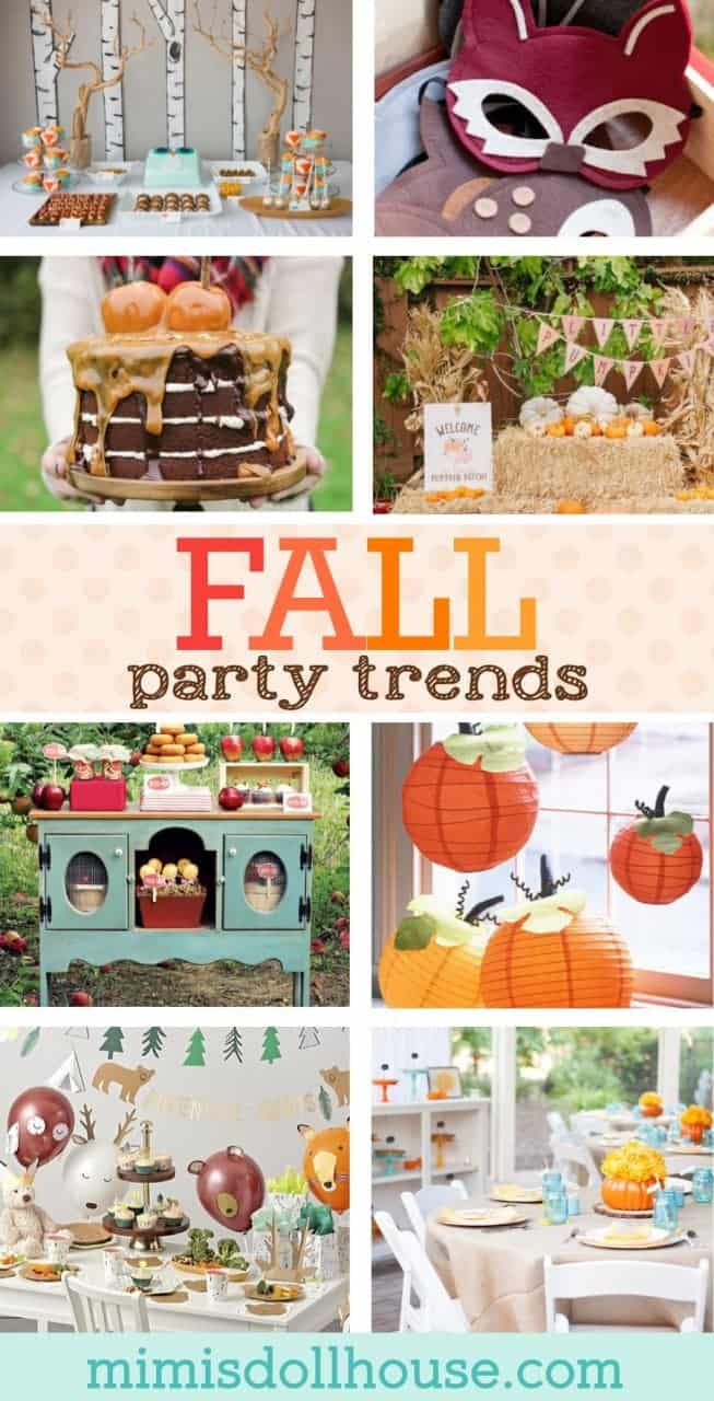 Fall Party Trends You'll Want to Try.  With the season's change comes new party trends and opportunities.  Check out the latest fall party trends and get inspired! Looking for Thanksgiving party inspiration?  Be sure to check out this Thanksgiving party, these pumpkin party ideas, and these apple party ideas! #parties #fall #autumn #baking #diyandcrafts #holidays #thanksgiving #pumpkin #apple #babyshower #firstbirthday #kidsbirthdays