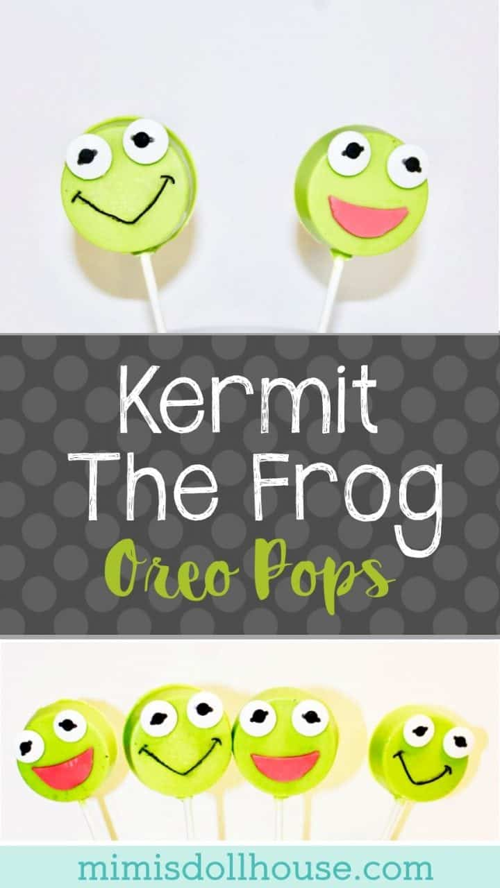 Muppet Babies: Kermit the Frog Oreo Pops. Throwing a Muppet Babies Party or just want to celebrate your little Muppets fan with some cute Kermit the Frog treats? This easy DIY Kermit the Frog Oreo Pops tutorial is for you. I'm sharing this tutorial to celebrate the release of Muppet Babies: Time to Play! on DVD.#kermitthefrog #muppets #parties #kidbirthday #birthdays #diyandcrafts #diy #crafts #partyprintables #desserts