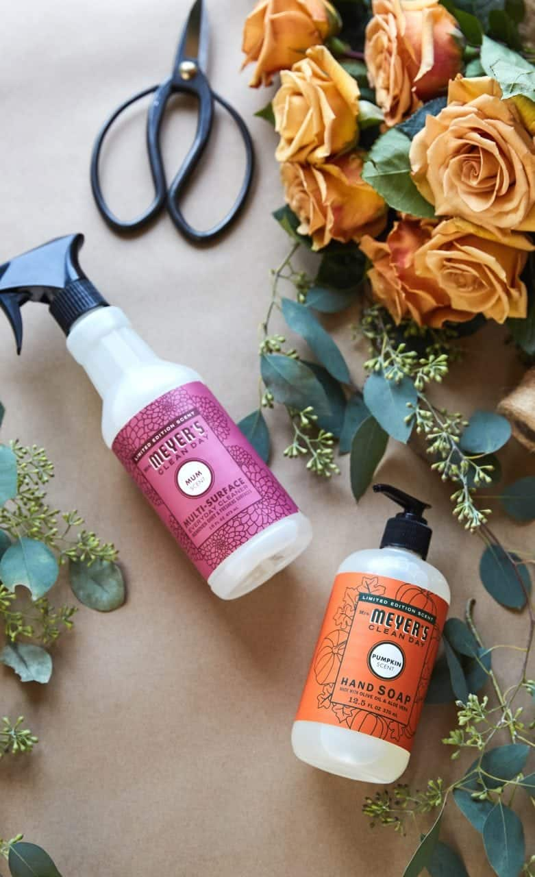 Grab your Free Mrs. Meyers Fall Cleaning Set. Keeping your home clean is so easy with Mrs. Meyers and Grove Collaborative.  I'm sharing an opportunity for free Mrs. Meyer's cleaning products today from Grove Collaborative. #cleaning #fall #pumpkin #mrsmeyers #grove