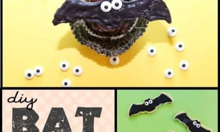 DIY Halloween Bat Cupcakes + Cookies