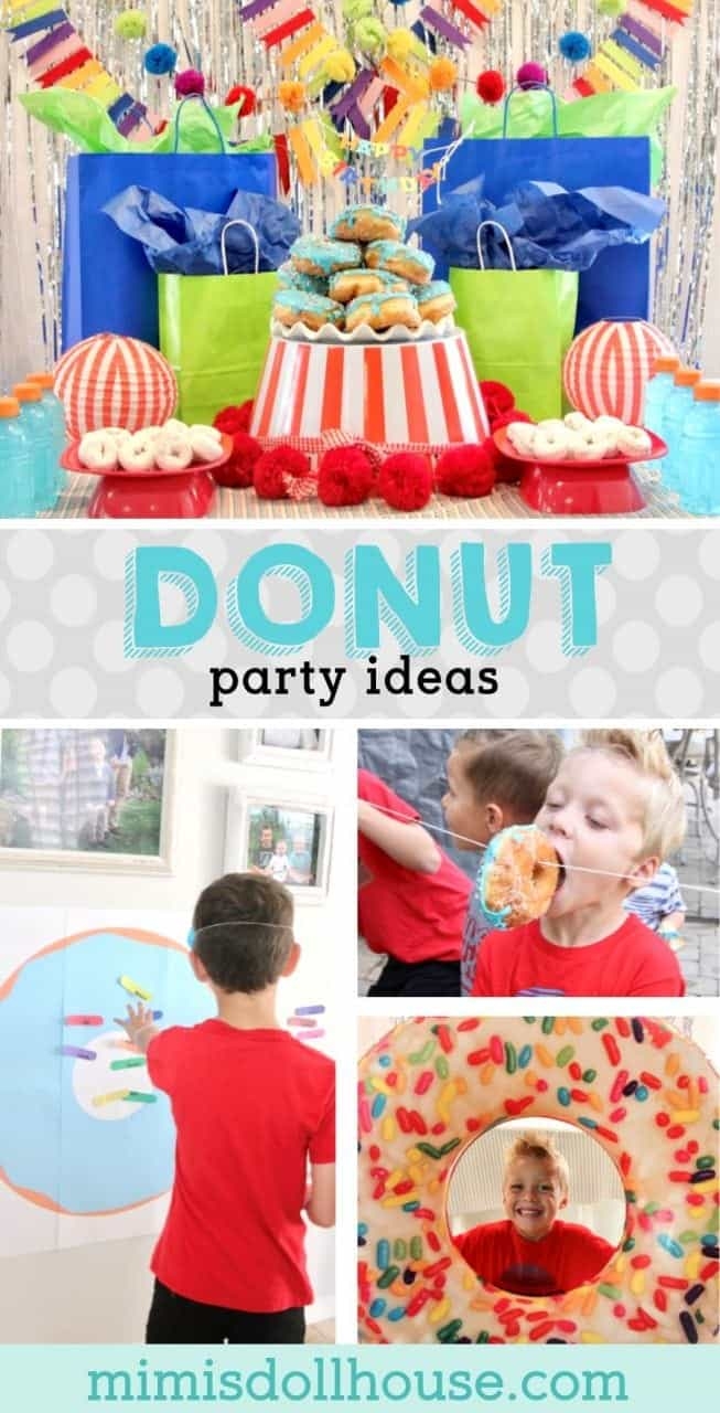 Donut Birthday Party: It's Doughnut Time!  Want a fun birthday party idea that your kids are going to go nuts over? Throw a donut birthday party. It's easy and fun and delicious! Looking for donut party ideas?  #parties #kidbirthdays #birthdays #donuts #holiday #donutparty
