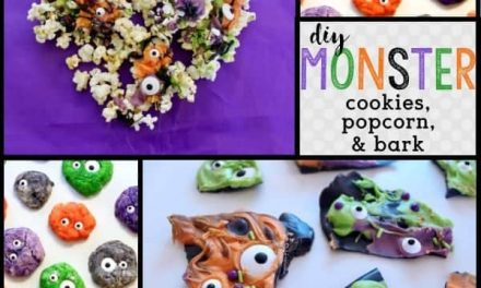 DIY Monster Eyeball Cookies + Monster Treats