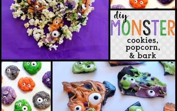 Halloween: DIY Monster Cookies, Monster Bark & Monster Popcorn