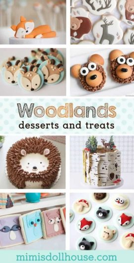 Woodlands Dessert Ideas: Fox Cookies, Bear Cakes and More! Woodlands desserts and goodies are the icing on the cake of a good Woodlands party. I'm sharing fun ideas for Woodland desserts today. #parties #desserts #woodlands #baking #kidbirthday #birthdays #babyshower
