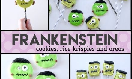 Halloween: Frankenstein Oreos, Rice Krispies and Cookies DIY