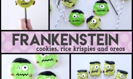 Frankenstein Rice Krispies Treats…Perfect for Halloween