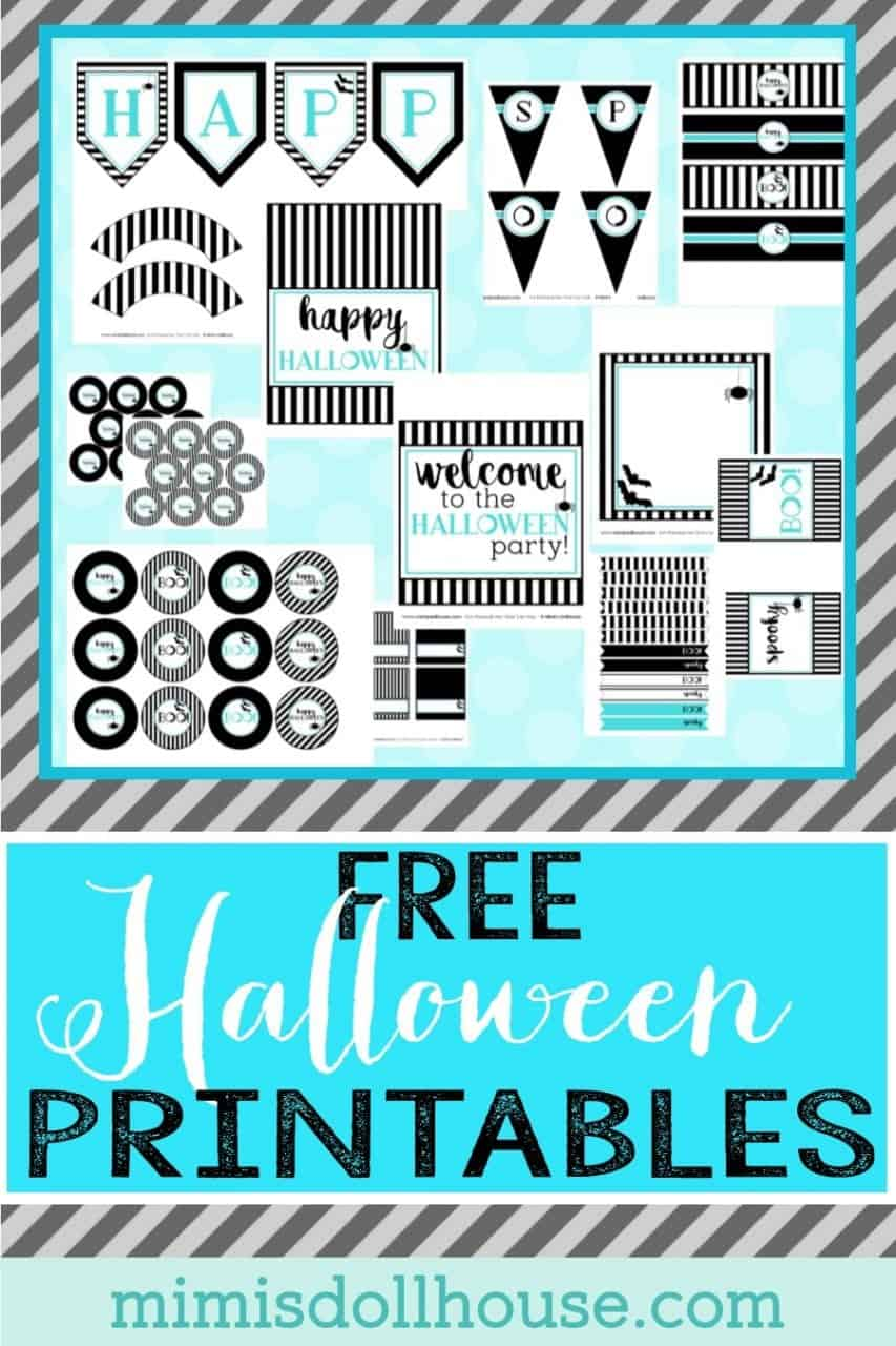 Want to throw a HALLOWEEN PARTY?  Here are some fun and modern FREE HALLOWEEN PRINTABLES!  #parties #halloween #free #freeprintables #holiday #printables
