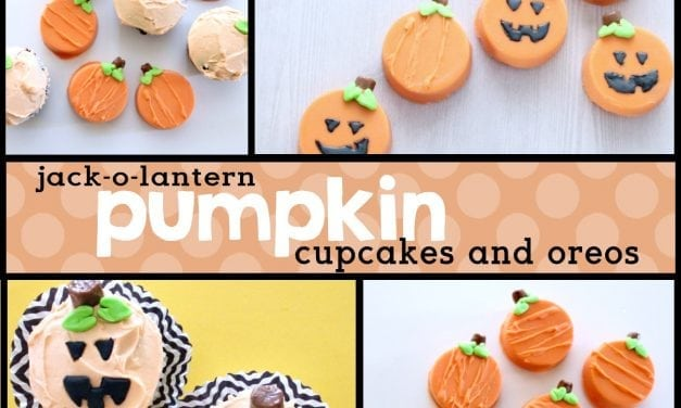 DIY Pumpkin Oreos and Pumpkin Cupcakes for Halloween
