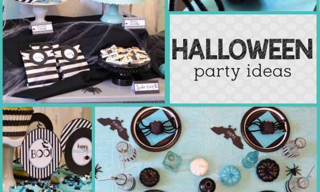 Modern Free Halloween Printables + Party Ideas