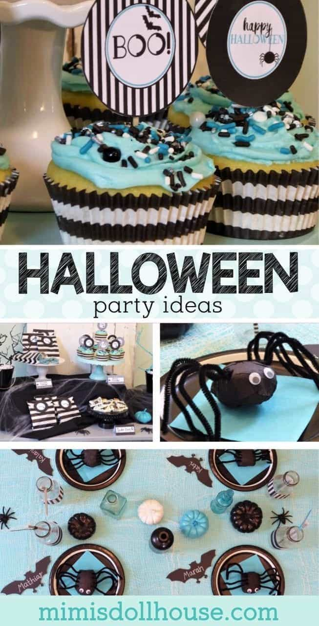 Halloween: Modern Free Halloween Printables. If you are throwing a Halloween Party, you definitely need some Free Halloween Printables. #halloween #parties #holiday #bat #freeprintables