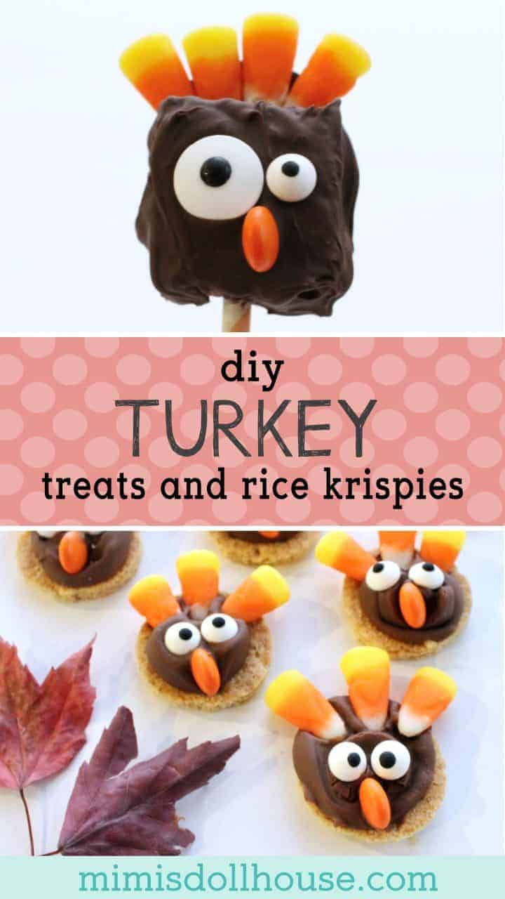 Thanksgiving Turkey Treats: DIY Turkey Desserts. Celebrate Thanksgiving with your little ones the right way...with Thanksgiving Turkey Treats of course. These are fun and simple DIY Thanksgiving desserts that your little ones can even make themselves. #parties #fall #autumn #recipes #diy #desserts #thanksgiving #turkey #baking #kidparties #holiday