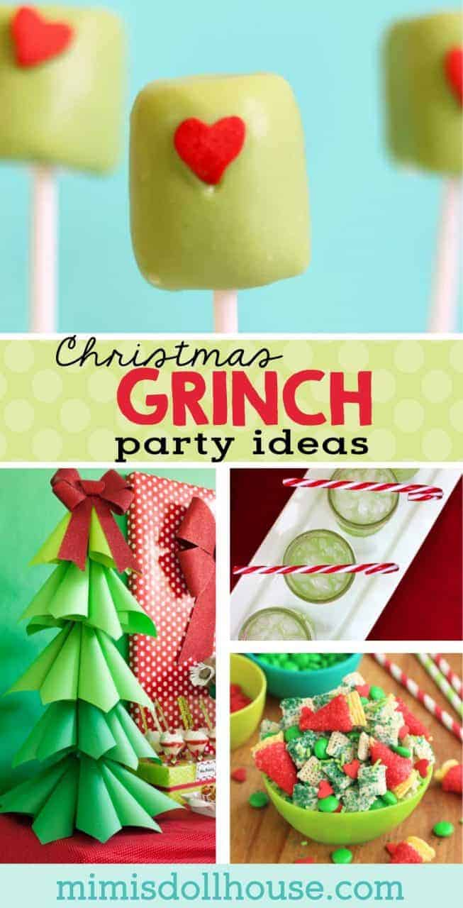 Christmas: Grinch Party Ideas & Grinch Desserts. He may be a mean one, but these Grinch party ideas are sure to put a smile on even that old Grinch's face.  If you are throwing a Christmas party this year...a Grinch party is the way to go!! #grinch #christmas #winter #holiday #baking #diy #crafts #parties #partyideas