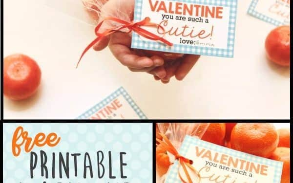 Free Printable Healthy Valentines with Cuties!