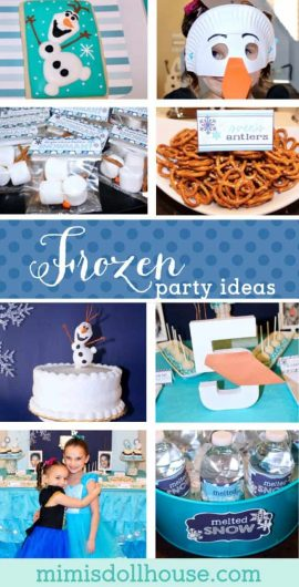 Frozen Birthday Party: Olaf themed Frozen Birthday. Do you want to build a snowman?  If you have a little cutie who is obsessed with Frozen, why not throw a Olaf themed birthday party?  This party is full of fun and easy DIY ideas for a Frozen birthday party. #frozen #olaf #elsa #girl #birthday #party #parties #partyideas #birthdayparty #diy #printable #crafts