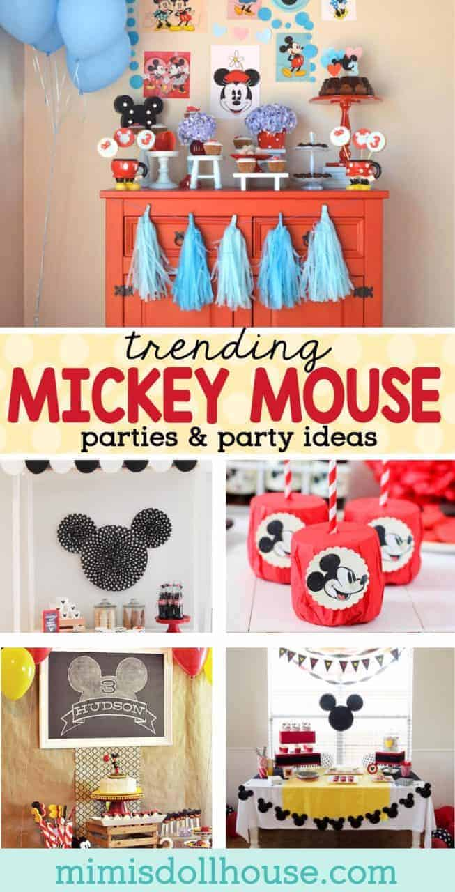 Mickey Mouse Birthday: Trending Mickey Mouse Parties. Let's celebrate your birthday Mickey Mouse style with some amazing and modern Mickey Mouse birthday ideas. Whether you want a monochromatic Mickey Mouse party or a traditional Mickey Mouse birthday celebration...these parties are sure to inspire.