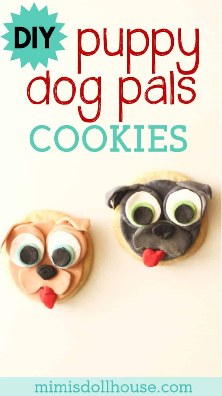 Disney Junior: Puppy Dog Pals Cookies.  Throwing a Puppy Dog Pals Party or just want to celebrate your little puppy loving baby with some fun cookies?  This easy DIY Puppy Dog Pal cookie tutorial is for you.  #disney #puppy #party #partyideas #parties #baking #tutorial #cookies #fondant