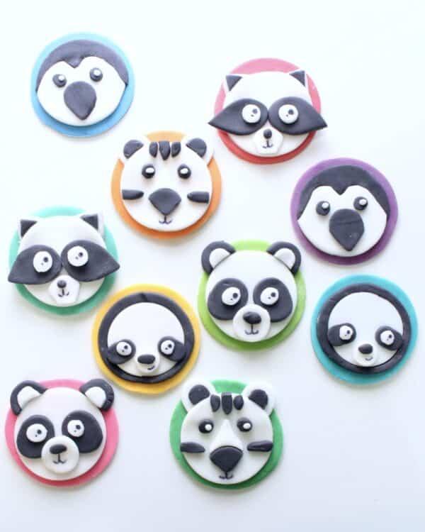 panda cupcake toppers