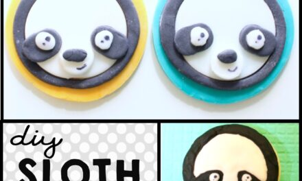 Easy DIY Sloth Cookies & Sloth Cupcakes Recipe