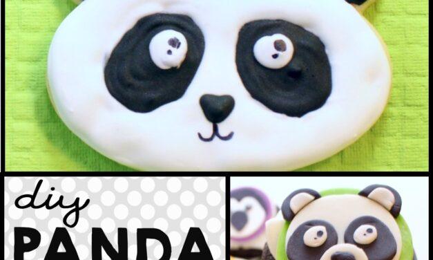 Simple Panda Cookies & Panda Cupcakes Recipe