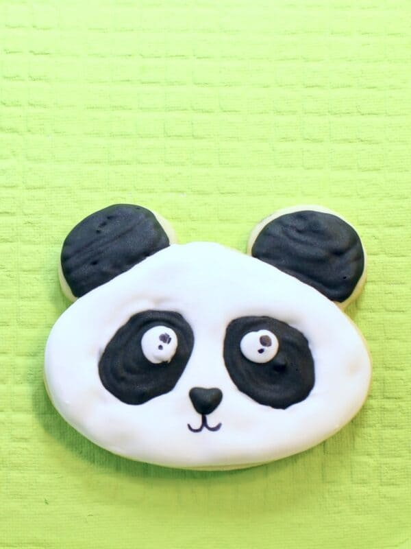 royal icing diy panda