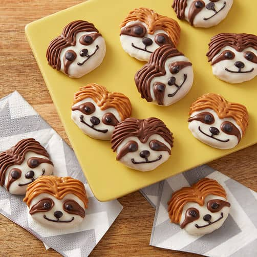 cute sloth pretzels