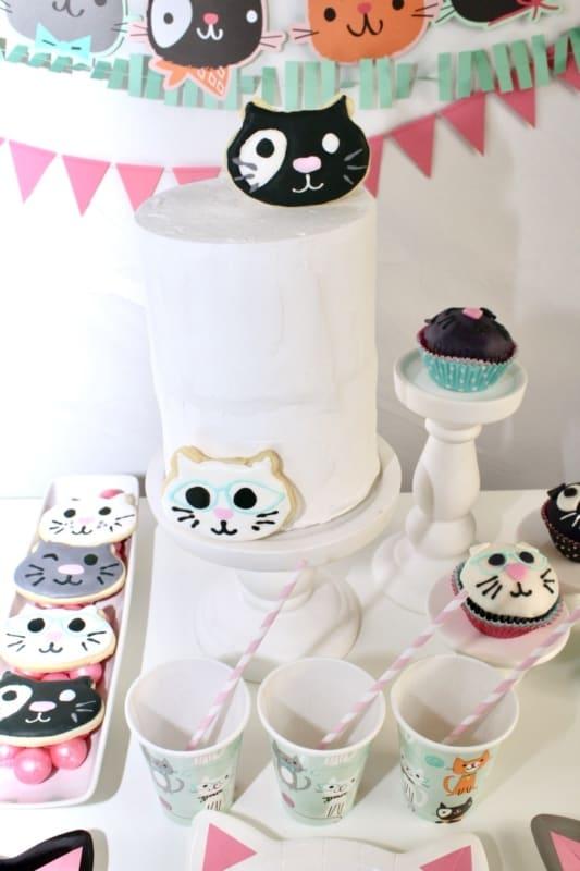 Superb Throw The Purr Fect Cat Themed Birthday Party Mimis Dollhouse Funny Birthday Cards Online Ioscodamsfinfo