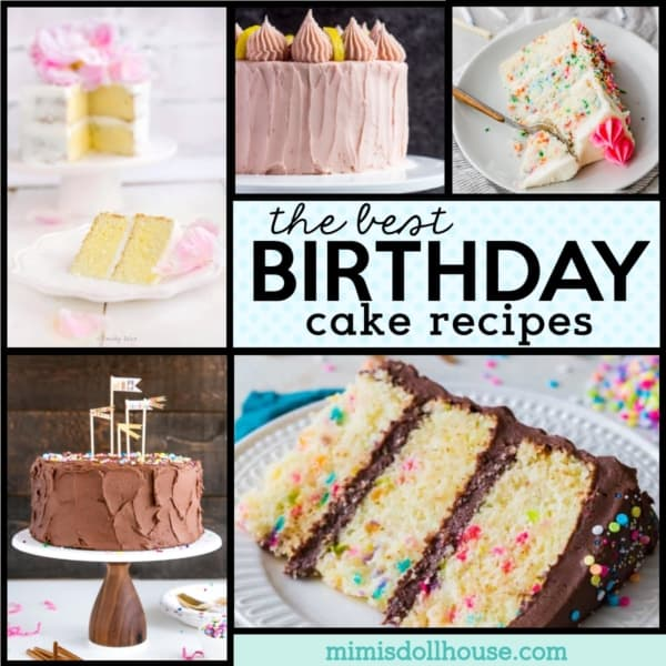 Pleasing 55 Delicious Birthday Cake Recipes Mimis Dollhouse Funny Birthday Cards Online Elaedamsfinfo