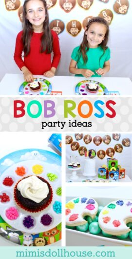 How To Throw A Bob Ross Painting Party Mimi S Dollhouse