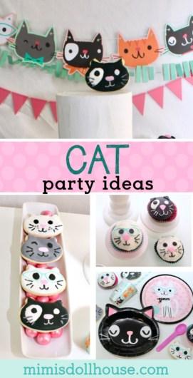 Excellent Throw The Purr Fect Cat Themed Birthday Party Mimis Dollhouse Funny Birthday Cards Online Ioscodamsfinfo