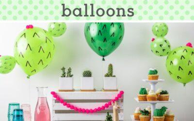 DIY Cactus Balloons + Cactus Party Ideas