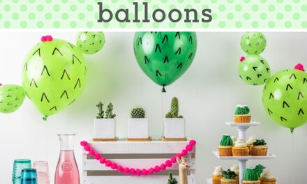 DIY Cactus Balloons + Cactus Party Ideas