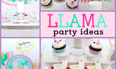 Playful Bright Llama Decorations + Party Ideas
