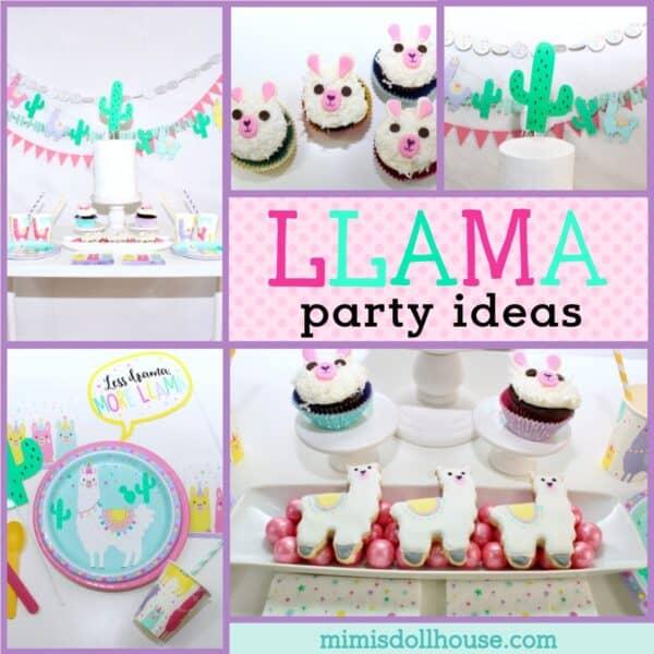 Playful Bright Llama Decorations Party Ideas Mimi S Dollhouse